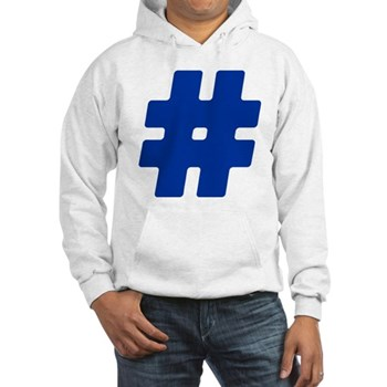 Blue #Hashtag Hooded Sweatshirt