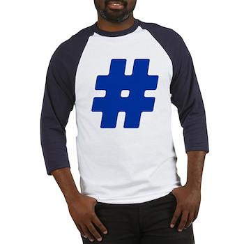 Blue #Hashtag Baseball Jersey