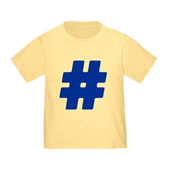 Blue #Hashtag Infant/Toddler T-Shirt