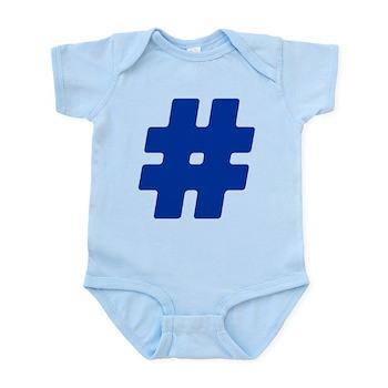 Blue #Hashtag Infant Bodysuit