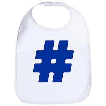 Blue #Hashtag Bib