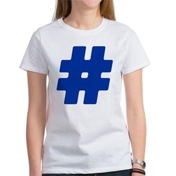 Blue #Hashtag Women's T-Shirt