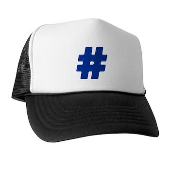 Blue #Hashtag Trucker Hat