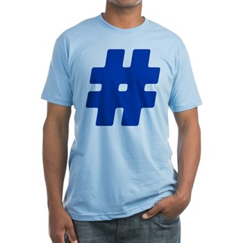 Blue #Hashtag Fitted T-Shirt