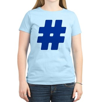 Blue #Hashtag Women's Light T-Shirt