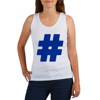 Blue #Hashtag Women's Tank Top
