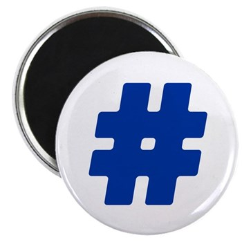 Blue #Hashtag Magnet