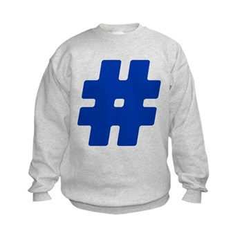 Blue #Hashtag Kids Sweatshirt
