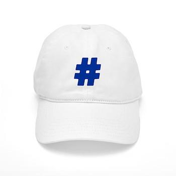 Blue #Hashtag Cap