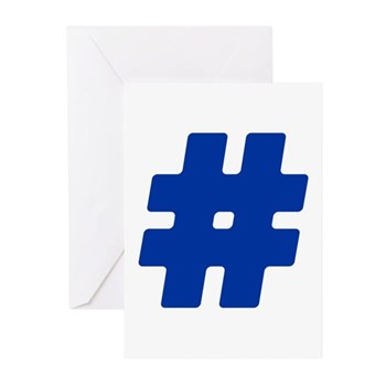 Blue #Hashtag Greeting Cards (20 pack)