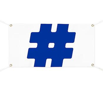 Blue #Hashtag Banner