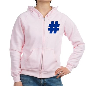 Blue #Hashtag Women's Zip Hoodie