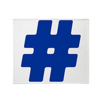 Blue #Hashtag Stadium Blanket