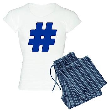 Blue #Hashtag Women's Light Pajamas