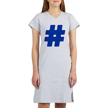 Blue #Hashtag Women's Nightshirt