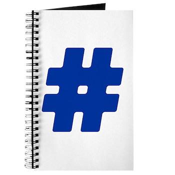 Blue #Hashtag Journal