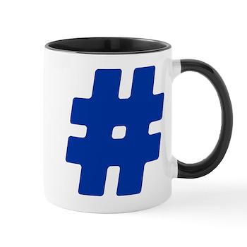 Blue #Hashtag Mug