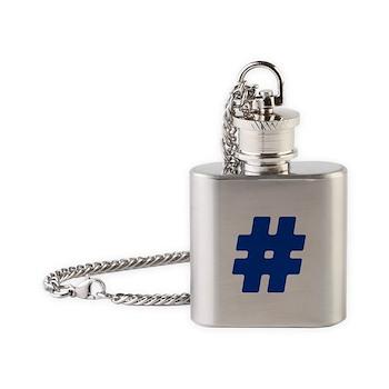 Blue #Hashtag Flask Necklace