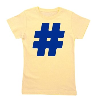 Blue #Hashtag Girl's Tee