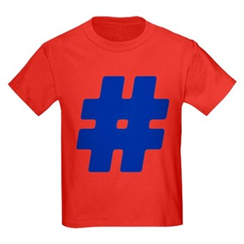 Blue #Hashtag Kids Dark T-Shirt