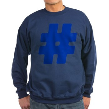 Blue #Hashtag Dark Sweatshirt