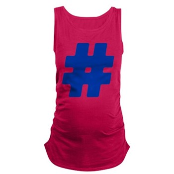 Blue #Hashtag Maternity Tank Top