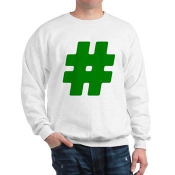 Green #Hashtag Sweatshirt