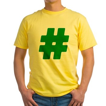 Green #Hashtag Light T-Shirt