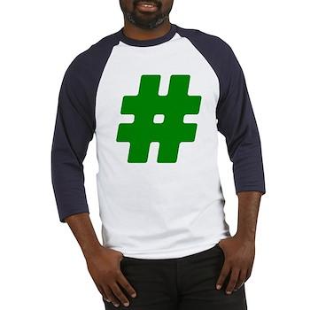 Green #Hashtag Baseball Jersey