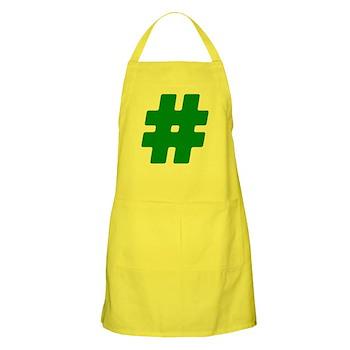 Green #Hashtag Apron