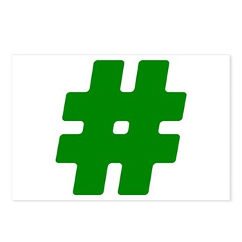 Green #Hashtag Postcards (Package of 8)