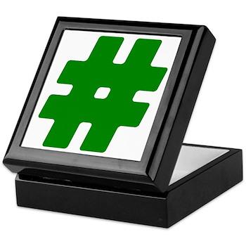 Green #Hashtag Keepsake Box