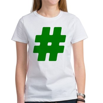 Green #Hashtag Women's T-Shirt