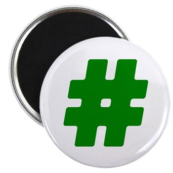 Green #Hashtag Magnet