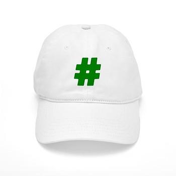 Green #Hashtag Cap