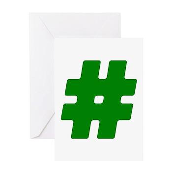 Green #Hashtag Greeting Card