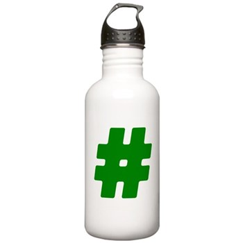 Green #Hashtag Stainless Water Bottle 1.0L