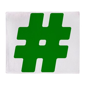 Green #Hashtag Stadium Blanket