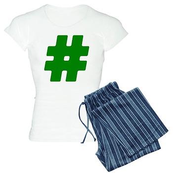Green #Hashtag Women's Light Pajamas