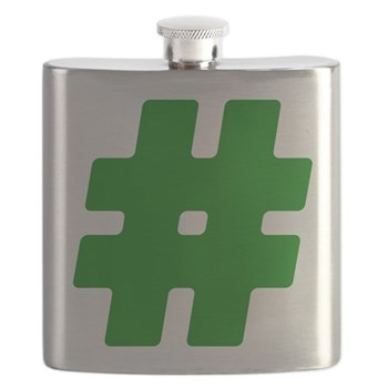 Green #Hashtag Flask