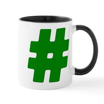 Green #Hashtag Mug