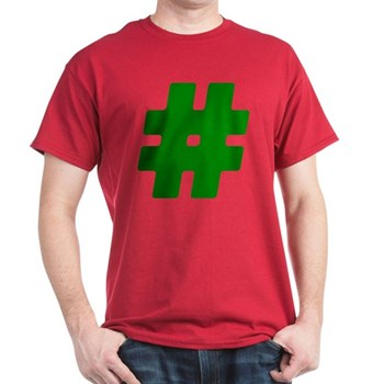 Green #Hashtag Dark T-Shirt