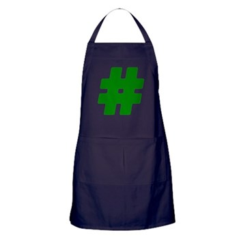 Green #Hashtag Dark Apron
