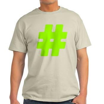 Neon Green #Hashtag Light T-Shirt