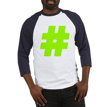 Neon Green #Hashtag Baseball Jersey