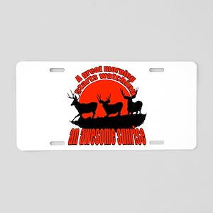 Awesome sunrise Aluminum License Plate