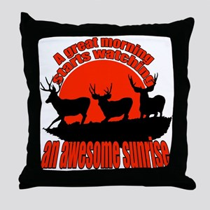 Awesome sunrise Throw Pillow
