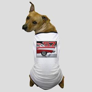1957 Chevy Belair Dog T-Shirt