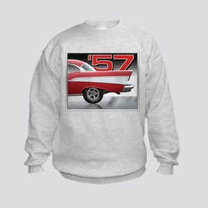 1957 Chevy Belair Kids Sweatshirt
