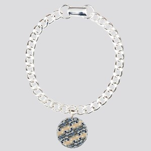 japanese art ocean lands Charm Bracelet, One Charm